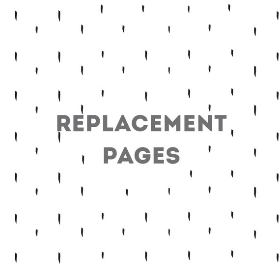 Replacement Page