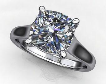 katya ring - 2 carat cushion cut NEO moissanite engagement ring