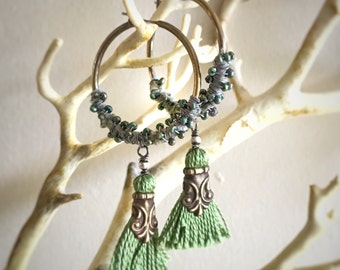 Woodland Moss Wanderlust Hoop Earrings