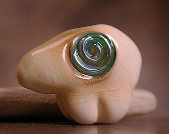 Art Glass Bear Bead Focal Animal Totem Divine Spark Designs SRA