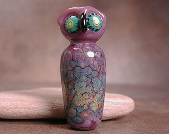 Glass Owl Bead Focal Animal Spirit Totem Divine Spark Designs SRA