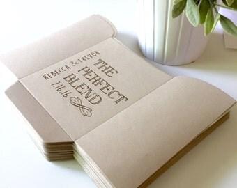 DIY The Perfect Blend Bags, Wedding Favors, Coffee Bags, Custom Wedding Favor, Custom Bags, Party Favor, Kraft, Bridal Shower