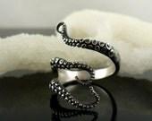 SaLE!  Octopus Ring, Tentacle Ring, OctopusME, Engagement ring, wedding band, ring