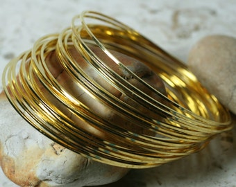 Stacking Bangle, Stackable Bangle, Gold Plated Bangle, Bangle Set, 2 pcs (item ID FA00023GP))