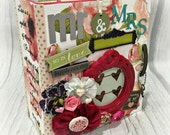 WEDDING All Occasion Scrapbook Scrapbooking Chipboard Album
