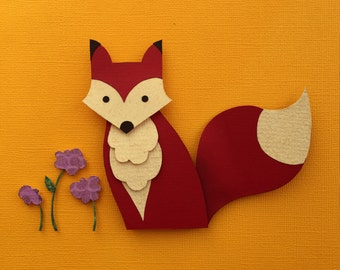 Forest, Woodland, Nursery Decor, Fox Paper Cutout