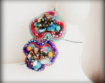 Pansies - OOAK hairband - Ready to ship x