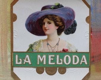 Vintage Cigar Box Labels La Meloda Ephemera Advertising