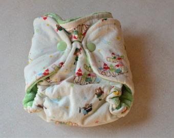 Peter Pan Newborn Fitted cloth diaper