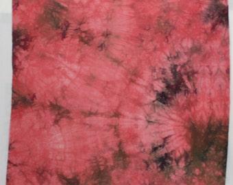 Agate - Pink Purple - 1 yard HAND DYED FABRIC - Tuscan Rose Modern Shibori Cotton - TR118