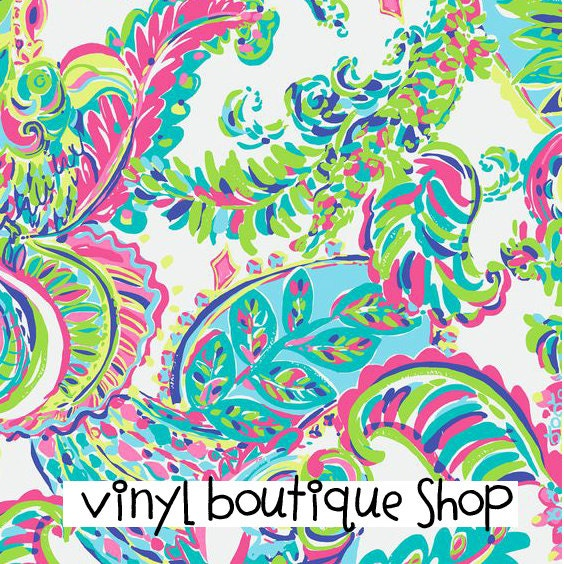 Craft Vinyl Lilly Pulitzer Inspired I Whale You