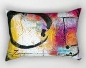 Enso Pillow, Zen Circle, Abstract Art Pillow, Home Decor Rectangular Pillow, Decorative, Contemporary, Original Kathy Morton Stanion  EBSQ