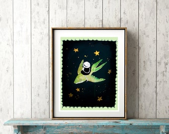 At Night with the Flying Fish - PRINT