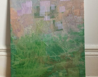 Abstract painting: earth and above