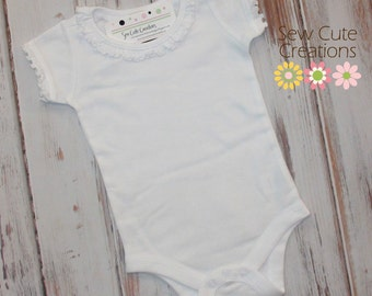 Upgrade any shirt listing to a short sleeve ruffle bodysuit - Listing to be purchased with a custom shirt listing ONLY!
