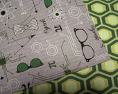 Geek Atomic Chic Reversible Cloth Lunch Napkin Set