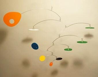 Modern Art Hanging Mobile Eliptusmobius Small Calder Style For Nursery Home Decor Baby Room