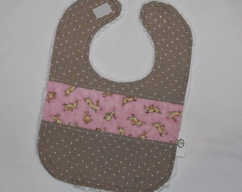 Pink Guess How Much I Love You and Dots Chenille Bib