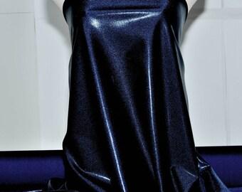 Mystique Spandex Fabric Navy/Black gymnastics, skating dress, dance, cheer bows, costume , pageant swimwear