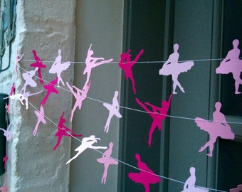 Ballet party, dance party, ballerina, paper garland, garland, pink party decorations, pink birthday