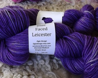 Blue faced Leicester Wool- Purple 827
