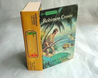 ROBINSON CRUSOE Hollow Book Keepsake Box Vintage Book Cover Fake Book Secret Secret Stash Box Hidden Compartment Groomsman Wedding Wooden