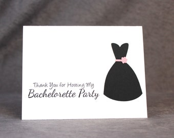 Bachelorette Party Hostess Thank You Card, Wedding Party Hostess Card