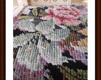 Photo Art Woven Tapestry Throw, Needlepoint Style Design with Fringe, Home Decor, Display, Sofa Throw, ECS