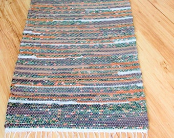 AUTUMN Woven Rag Throw Rug 153