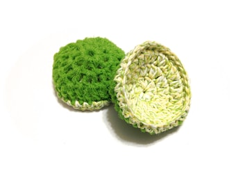 Dream Twists Crocheted Cotton And Nylon Netting Dish Scrubbies