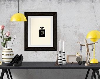 Coco Noir Perfume Fashion Illustration Art Poster
