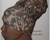 HeadBand-Tube-Dreadlocks-Locs-Cheetah-Camouflage-natural Hair Accessories