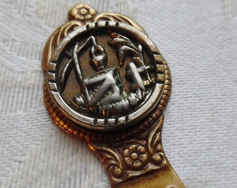 Bookmark- Antique Button- Wishing Well