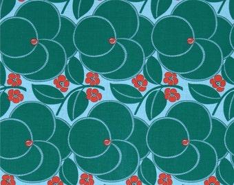 Heart Bloom Pine - Hapi - FreeSpirit Fabrics - Amy Butler - Blue Floral Quilting Fabric - Flowers