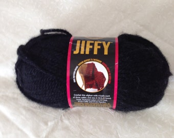 Lion Brand Jiffy yarn in black, destash yarn