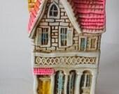 Vintage Cottage Paper Mache BANK