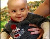 Baby Sock Monkey Sweater Hand Knit