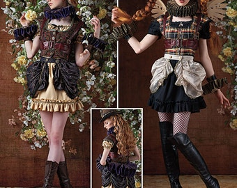 Sewing Pattern-Simplicity 8075 -Steampunk Circust Costume size 6-14