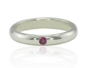 Mother's Ring, Unique Personalized Mother's Ring, Birthstone Mother's Ring, Gold Mother's Ring, Custom Mother's Ring, Ruby Ring - LS3657