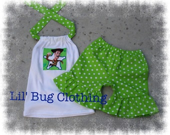 Custom Boutique Clothing Toy Story Woody Short and Halter Top