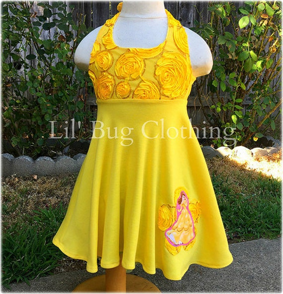 Princess Belle Yellow Rose Dress Princess Belle Costume