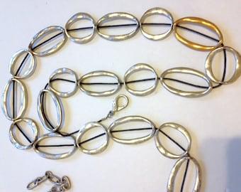 Concho Belt Silver Chain Belt Vintage 80s Belt Hip Belt boho belt
