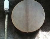 """12"""" Shamanic Drum, Deer hide, Dark Moon Drum"""