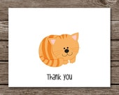 Cat Note Cards - Notecards - Kitty Note Cards - Cat Card - Cat Notecards - Stationery - Stationary - Thank You - Personalized - Set of 8