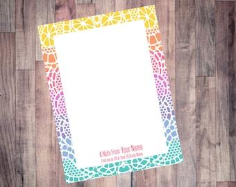 LuLaRoe Lace 4 x 5.5 Notepad, Custom Note Pad, LuLaRoe Note Card, LuLaRoe Printable Note, LLR Printable