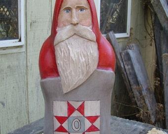 Ohio Star Quilt Carving.