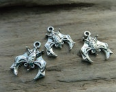 Little Hanging Bat Charms, Animal Charms, Silver Color Base Metal Charms -10