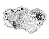 Coloring Page Hand Drawn Create in me a Clean Heart