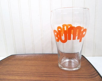Vintage Drinking Glass Bump Typographic Retro 70's Extra Large