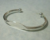 Adjustable Silver Cuff Bracelet Blank, Glue Pad Bracelet, Engravable ID Bracelet, Stamping Blank